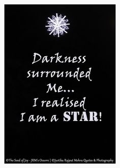 I am a Star_ Tribute To Cancer Survivors © Jyotika Rajput Mehra Quotes&Photography