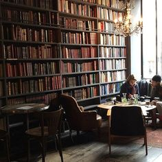 25 Insanely Cute Cafés We Could Totally Live In #refinery29  http://www.refinery29.com/coffee-shop-decor#slide-18  Merci, Paris, FranceA café that channels a Parisian bibliotheque is worth its weight in gold — or, rather, its weight in Instagram likes?