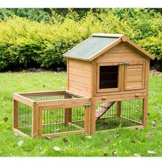 "52"" Wooden Rabbit Hutch Bunny Guinea Pig Pet Wood House Small Animal Habitat Run | Artigos para animais, Suprimentos para animais pequenos, Gaiolas e habitats | eBay!"
