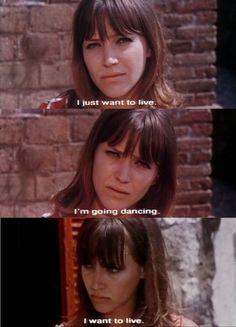 Anna Karina in Pierrot Le Fou (1965, dir. Jean-Luc Godard).