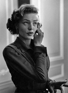 Lauren Bacall by Ruth Orkin, 1950s.