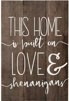 'Love & Shenannigans' Wood Wall Sign, Rustic Home Decor, Wall Art, Distressed Wall Sign #affiliate #farmhouse