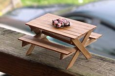 Cute miniature table from popsicle sticks