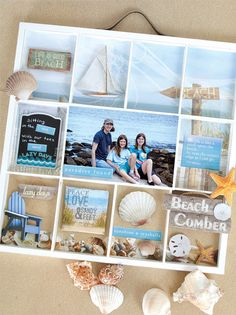 Paper House Productions Peace, Love And Sandy Feet Shadow Box