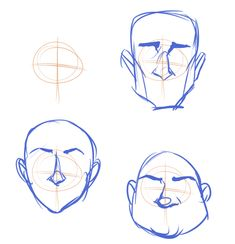 Trilling Exercises To Get Better At Drawing Ideas. Astounding Exercises To Get Better At Drawing Ideas. Drawing Techniques, Drawing Tips, Drawing Sketches, Cartoon Drawings, Cartoon Art, Drawing Heads, Drawing Face Shapes, Poses References, Drawing Expressions