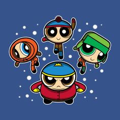 Powerpuff South Park mash-up t-shirt