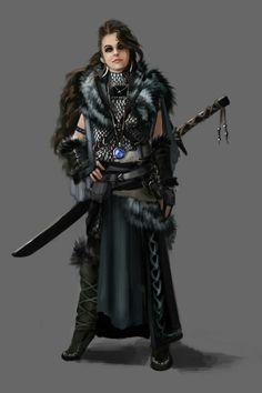 Female Barbarian - Pathfinder RPG PFRPG DND D&D d20 fantasy