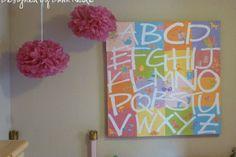 PB Inspiration: Alphabet Wall Art