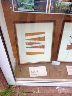 Afschuwelijk, stom, saai kunstwerk Titel : mais Maker : Anna feddema Matariaal : Monotype en krijt