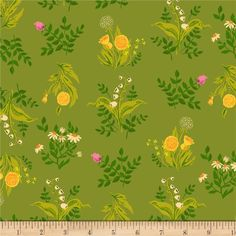 Heather Ross Sleeping Porch Lawn Bouquet Olive from @fabricdotcom  Designed by Heather Ross for Windham Fabrics, this very lightweight fabric is a finely woven, high count combed cotton lawn that is very soft and has an ultra smooth hand. It is perfect for flirty blouses, dresses, shirts, lingerie, tunics, tops and even quilting. Colors include taupe, black, mustard, orange, magenta, lavender, golden orange and shades of green.