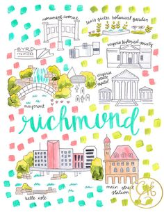 Richmond Map Print