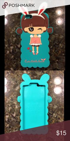 🐰NEW🐰 Cute bunny girl iPhone 6 Plus Phone Case 🔸Never used, super adorable Korean style girl with bunny ears silicon rubber phone case! 🐰👩 ⭐️Reasonable offers will be considered 🚫No lowball offers please! 🙅No trades 💰Bundle and save! Accessories Phone Cases