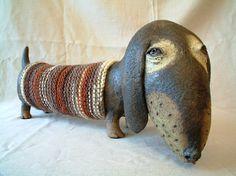 Molnár Péter Salamon (Hungarian ceramic artist) - dachshund