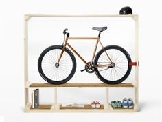 Designer Thomas Walde of Swiss studio Postfossil created this simple and beautiful bike stand.