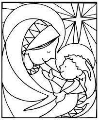 kleurplaat geboorte jezus - inkleuren met kleurpotlood, laten verven met olie