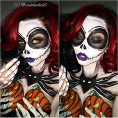 Halloween Makeup Sugar Skull, Cute Halloween Makeup, Halloween Cosplay, Halloween Make Up, Halloween Costumes, Ethereal Makeup, Eyes Artwork, Sally Nightmare Before Christmas, Face Paint Makeup