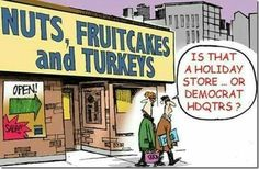 Is that a holiday store or the democrat headquarters?