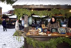 Christmas market in Trondheim, Norway