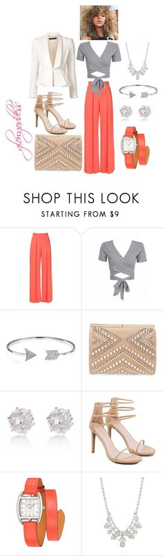 """""""meetings"""" by glowgoddess on Polyvore featuring Nicole Miller, WithChic, Bling Jewelry, Jimmy Choo, River Island, Akira, Hermès, Givenchy and Elie Saab"""