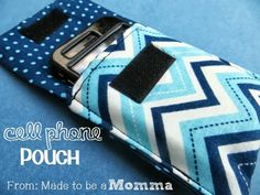 Cell Phone Pouch Tutorial - This would help keep track of my phone so much!
