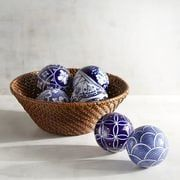 Blue & White Porcelain Decorative Sphere Set of 6