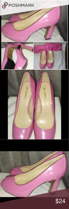 Lasonia Comfortable Bubblegum Pink Shoes Free Belt Beautiful Lasonia Comfortable Bubblegum Pink Shoes Free Belt. Minor flaw on 4th pic around the rim hardly noticeable. Built in platform and strong sturdy heels.👠👠👠 Lasonia Shoes Platforms