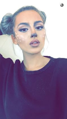 Cat cheetah makeup for Halloween