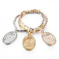 Retro Girl Boy Pendant Silver Rose Gold filled Bracelets