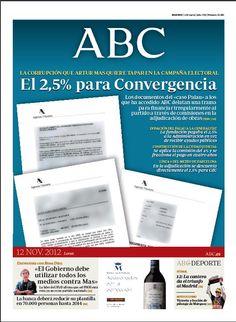 La portada de ABC del 12 de noviembre