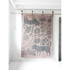 Feeling In The Pink - Cat & Dog wool blanket from Rafa Kids