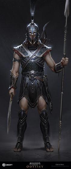 Achilles, Gabriel Blain - A rendition done online Greek Warrior, Fantasy Warrior, Fantasy Art, Troy Achilles, Ancient Troy, Fake Tattoo, Greek Mythology Art, Trojan War, Assassins Creed Odyssey