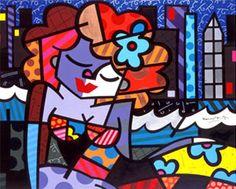 Fika a Dika - For a Better World: Romero Brito Tips Tableau Design, Arte Country, Graffiti Painting, Easy Paintings, Worlds Of Fun, Great Artists, Fantasy Art, Illustration Art, Cartoon Illustrations