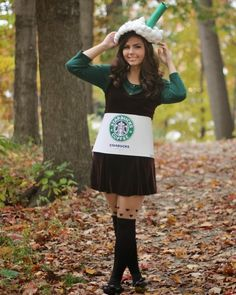 Pin for Later: 15 Insanely Adorable Starbucks Halloween Costumes For Kids of All Ages Venti Espresso Macchiato Costume Halloween, Starbucks Halloween Costume, Homemade Halloween Costumes, Halloween Costumes For Teens, Group Halloween, Halloween Party, Halloween Ideas, Halloween College, Children Costumes