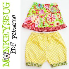 baby bubble or ruffle shorts and pants, baby pants, infant pants, bubble pants, shorts, baby shorts, summer, spring, fall, infant, instant, e-pattern, downloadable, pdf, e-book, tutorial