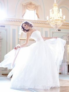 Beautiful, simple wedding ball gown