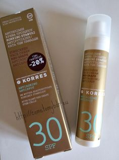 Korres sunprotection face | Αντηλιακό με Κόκκινο Σταφύλι SPF30 για το πρόσωπο Red Grapes, Summer Sun, Sun Protection, Sunscreen, Personal Care, Cosmetics, Cream, Drinks, Bottle