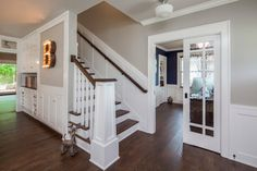 KW to SP: Newell post with a slightly nautical feel and sliders for Arroyo?  Craftsman Revived - traditional - Staircase - Austin - CG&S Design-Build