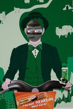 Green man, Vilnius.