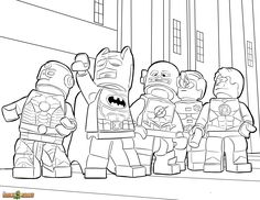 The LEGO Movie Coloring Page, LEGO LEGO Justice League Printable Color Sheet