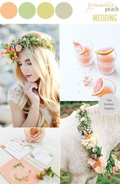 Color Story | Romantic Peach Wedding - see more at: www.theperfectpalette.com - Color Ideas for Weddings + Parties