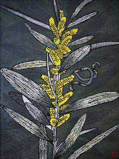 pod and pod gallery Julie Hickson Australian Native Flowers, Australian Artists, Botanical Art, Botanical Illustration, Botanical Drawings, Linocut Prints, Art Prints, Flower Quilts, Stencil Painting