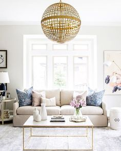 """LaurenConrad.com on Instagram: """"from the unique chandelier to the neutral color palette, this gorgeous room from @smpliving is pretty much our décor dreams. when can we move in?! ✨ #regram #lcdotcomloves photography: @lindsay_salazar_photography, interior design: @studiomcgee"""""""
