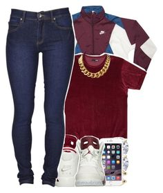 """love"" by yeauxbriana ❤ liked on Polyvore featuring Dr. Denim and NIKE"