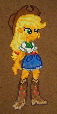 MLP Applejack Equestria GIrls perler craft by Pika-Robo on deviantART