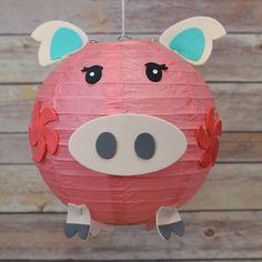 Kid Craft Project Paper Lantern Animal Face DIY Kit - Pig #Quasimoon