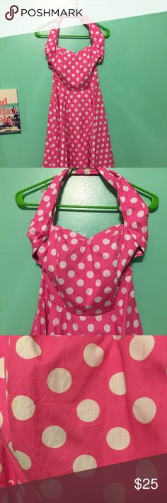 Polka dotted dress. Perfect pin up dress. Gorgeous dress. Worn once. Great condition. Size small. Dresses Midi