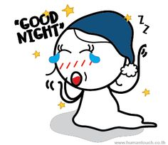 """""""Good Night"""" Human Touch very own Boy meets Girl characters is now available on Line Mobile chat app stickers! Wanna preview, Just check out at http://line.me/S/sticker/1023349! Only US$ 0.99 for a set of 40 lovely stickers with no expiry date to decorate your chat ! Let's follow their love adventure and be in love with them all over again!"""