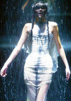 """highqualityfashion: """" Alexander McQueen – The Golden Shower """""""