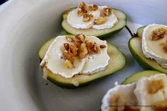 Birnen mit Ziegenkäse, Walnüssen und Honig - Hauptspeise oder Vorspeise -