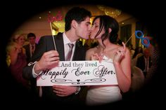 Bridal Wedding Sign Marriage Sign And they lived happily ever after by OurHobbyToYourHome